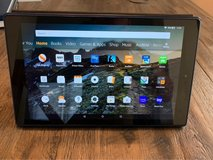 Amazon Fire 10 tablet with case in Fort Bragg, North Carolina