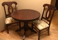 Wood Table and 2 Chairs in Joliet, Illinois