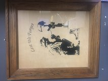 Wood frame with engraving in Camp Pendleton, California