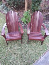 Pair of Adirondack wooden chairs in Spring, Texas