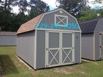 10x16 Lofted Barn Storage Building Shed in Moody AFB, Georgia