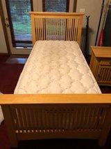Twin Bed, Mattress with Box Springs & Night Stand in Fort Campbell, Kentucky