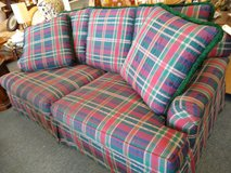 Ethan Allen Green, Red Plaid Sofa in Naperville, Illinois
