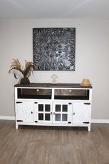 Rustic Distressed White Tv. Stand in Kingwood, Texas