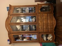 Glass and Oak China Cabinet in Fort Hood, Texas