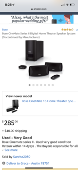Bose Home Theater Speaker in Fort Hood, Texas