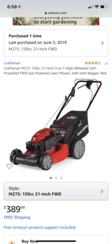 Craftsman Lawnmover in Fort Hood, Texas