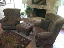 2 Chairs w/ 1 Ottoman in Kingwood, Texas