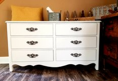 Refinished solid wood dresser in Naperville, Illinois