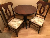 Solid Wood Table w/ 2 Chairs in Joliet, Illinois