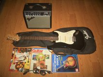 Fender Squier Strat Electric Guitar With Fender Frontman 15G Amp & More in Moody AFB, Georgia