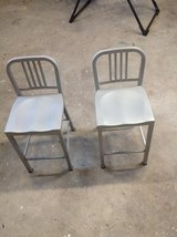 Metal counter height stools in Cherry Point, North Carolina
