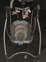 Graco baby swing with newborn inserts in Joliet, Illinois