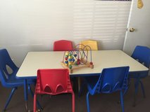 Child Care Table and Chairs in Camp Pendleton, California