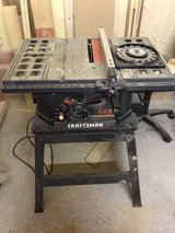 10 in Craftsman table saw w/stand. in Ramstein, Germany