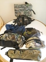 Assortment of Camo Bags and Seat in Byron, Georgia