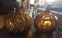 Glass Pumpkin Candleholders in Naperville, Illinois