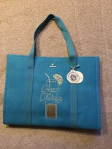 "New Spartina 449 ""Beach Therapy"" Embroidered Carry-All Tote Teal in Chicago, Illinois"