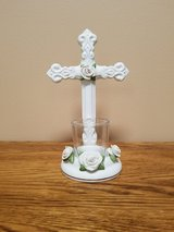 Cross votive candle holder in Naperville, Illinois