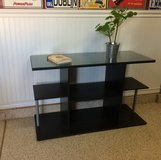 Black Wood Side Unit with Glass Top! in Camp Pendleton, California