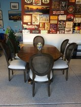 Wow - Stunning Walnut Veneered Dining Table with 6 Chairs! in Camp Pendleton, California