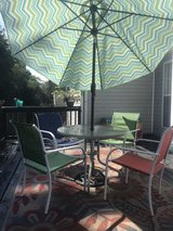 outdoor patio set with rug and lights in Fort Campbell, Kentucky