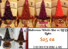 Halloween Witch's Hat w/LED Lights (approx 34x21in) in Tacoma, Washington