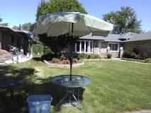 pateo table, umbrella, and base in Tinley Park, Illinois