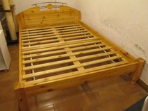 German pine bed with slats in Ramstein, Germany