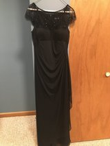 Size 6 long black dress! Worn once! in Yorkville, Illinois