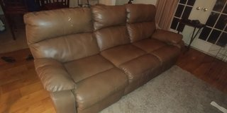 Brown Blended Leather Sofa Recliner in Cherry Point, North Carolina