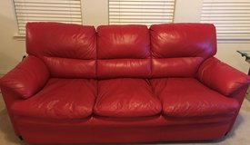 Red Leather Couch & LoveSeat in Lackland AFB, Texas