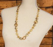 """Beaded Gold Tone 28"""" Statement Chain Pendant Necklace Strand in Kingwood, Texas"""