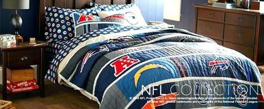 Twin Pottery Barn NFL Comforter & matching sheets in Kingwood, Texas