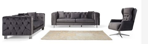 United Furniture - NEW MATERIAL - Rugatto in Grey - complete with Sleeper Sofa and delivery in Spangdahlem, Germany