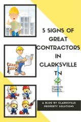 5 Signs of Great Contractors in Clarksville TN in Clarksville, Tennessee