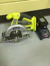 Ryobi 18V 5 1/2 inch circular saw (with battery and charger) in Bartlett, Illinois