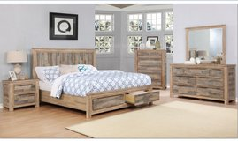 United Furniture - New Item - Kipling QS Bed Set - Solid Wood (Acacia) includes del. - KS also.. in Stuttgart, GE