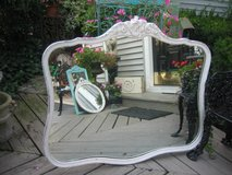 very LARGE white shabby chic carved mirror in Naperville, Illinois