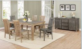 United Furniture - New Item - Kipling Dining Set - in lighter color-Solid Wood (Acacia) incl del. in Spangdahlem, Germany