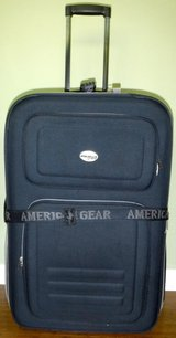 LARGE American Gear Luggage Navy Canvas rolling Suitcase in Westmont, Illinois