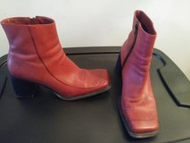 Red ankle boots in Bolingbrook, Illinois