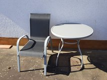 outdoor table and chair in Ramstein, Germany