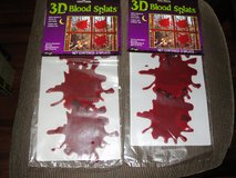 "NEW HALLOWEEN ""BLOOD SPLATS"" 3D GEL CLING ONS in Camp Lejeune, North Carolina"
