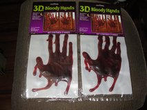 "NEW HALLOWEEN ""BLOODY HANDS"" 3D GEL CLING ONS in Camp Lejeune, North Carolina"