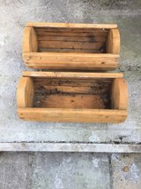 Two Wooden Planters in Lakenheath, UK