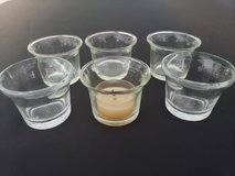 6 Glass Candle holder in Clarksville, Tennessee