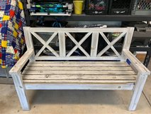 AWESOME Wood Farmhouse Style Rustic Bench in Westmont, Illinois