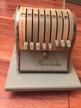VINTAGE PAYMASTER SERIES X-550 CHECK WRITER STAMPING MACHINE in Chicago, Illinois