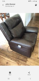 Power Leather recliner in Moody AFB, Georgia